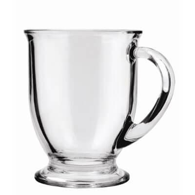 Anchor Hocking Café Glass Coffee Mugs