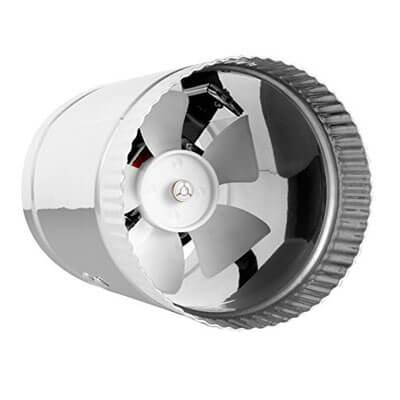 """4"""" inline fan 100 CFM, metal duct booster fan"""