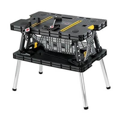 Keter Folding Compact Workbench Sawhorse Work