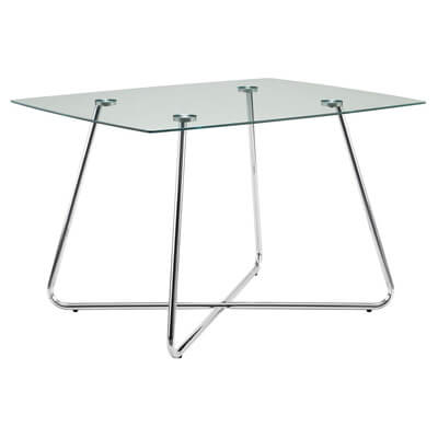 Monarch Specialties I 1070, Dining Table Chrome