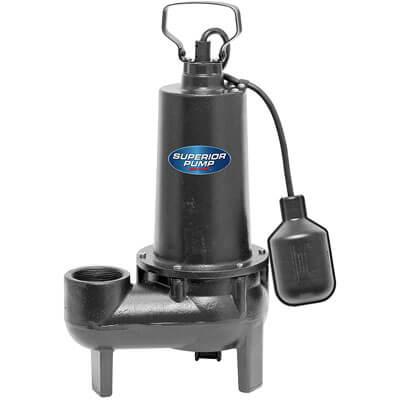 Superior Pump 93501 1/2 HP cast-iron sewage pump