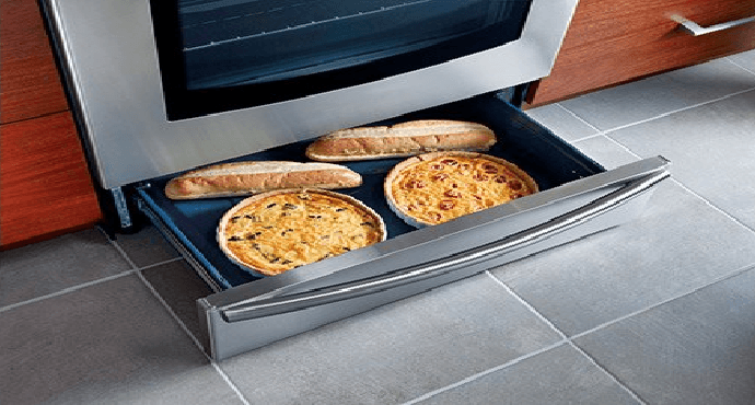 Drawers in the oven