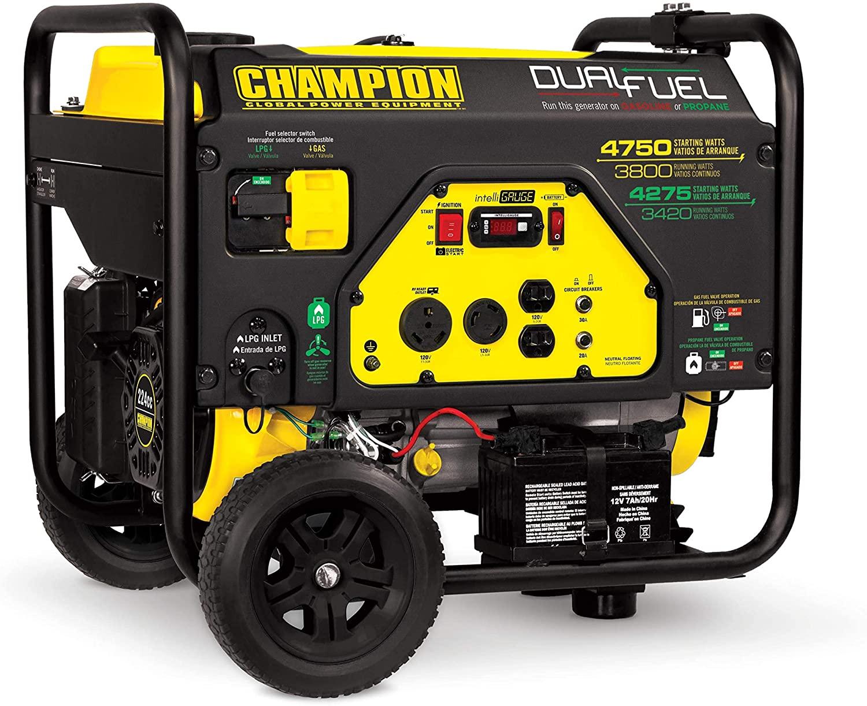 Champion Power Equipment 76533 4750/3800-Watt Dual Fuel RV Ready Portable Generator