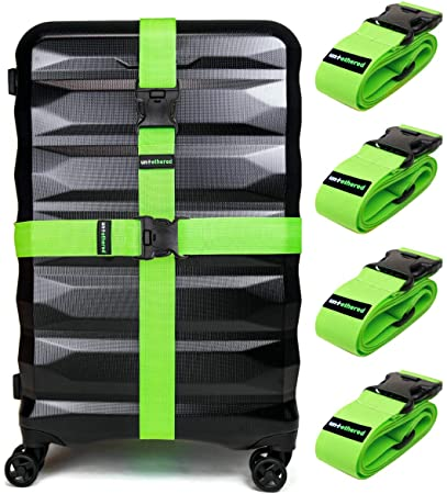 Untethered 4-Pack Luggage Straps